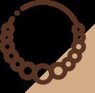Ícone de um colar de pedras