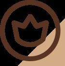 Ícone de uma coroa simbolizando originalidade